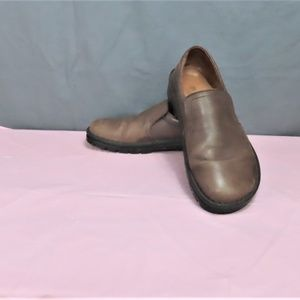 Brown Leather Loafers By Birkenstock